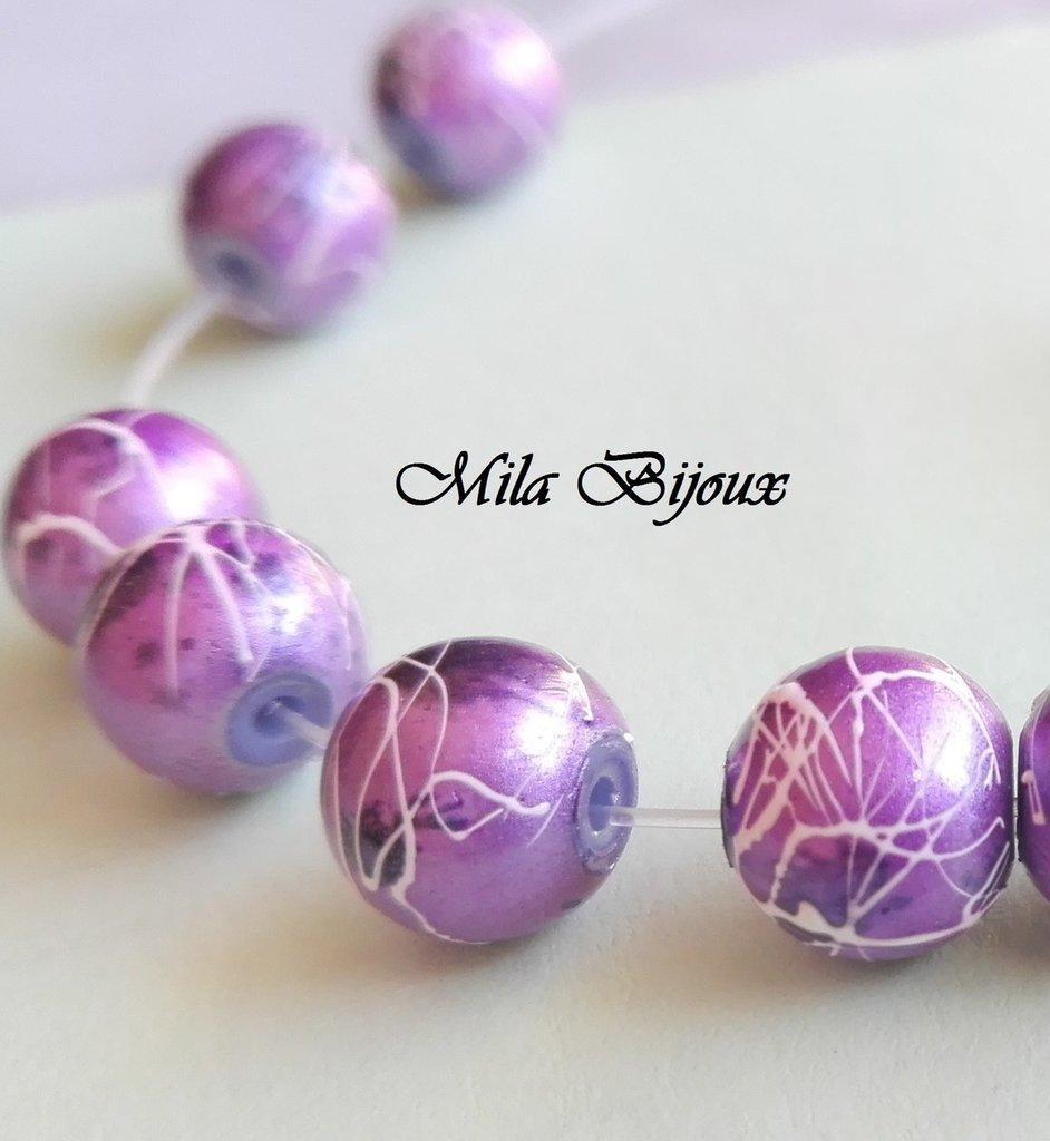 perle viola fantasia 8 mm