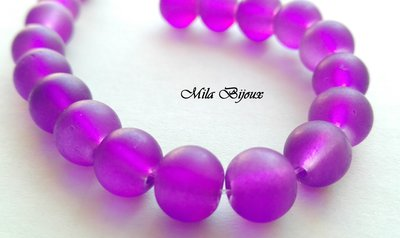 perle viola frosted 8 mm