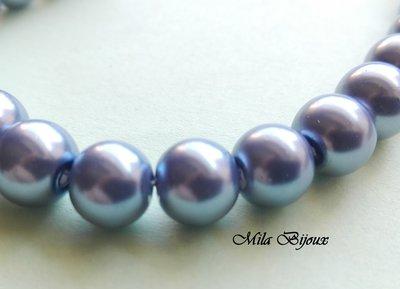 perle blu carta da zucchero 8 mm