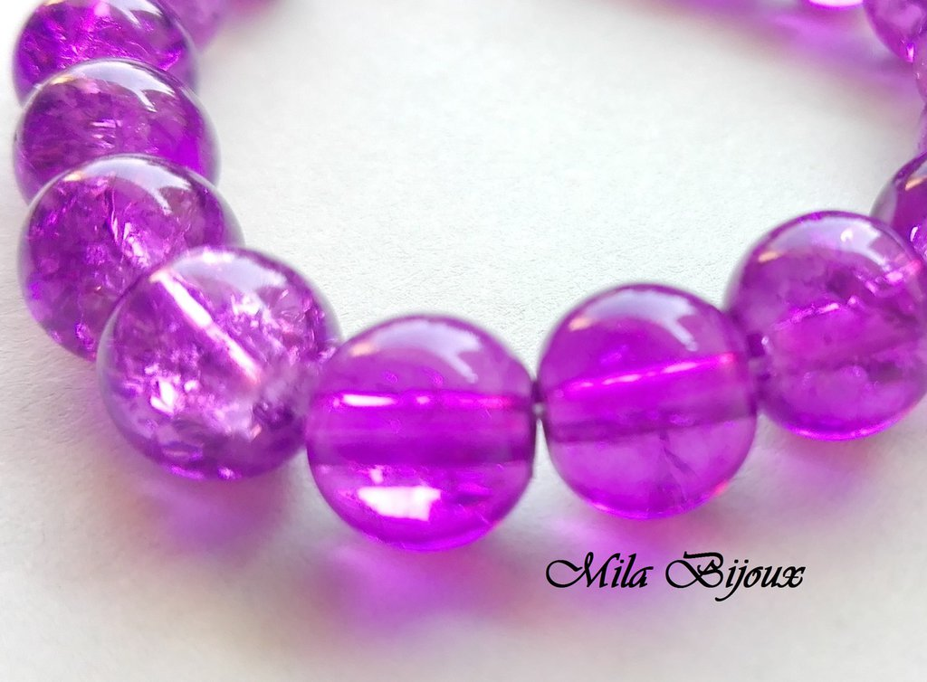 perle viola crackle 8 mm