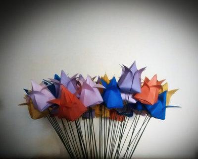 Bouquet di fiori di carta - 10 tulipani