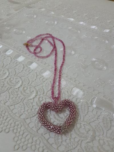 Collana di perline uncinetto