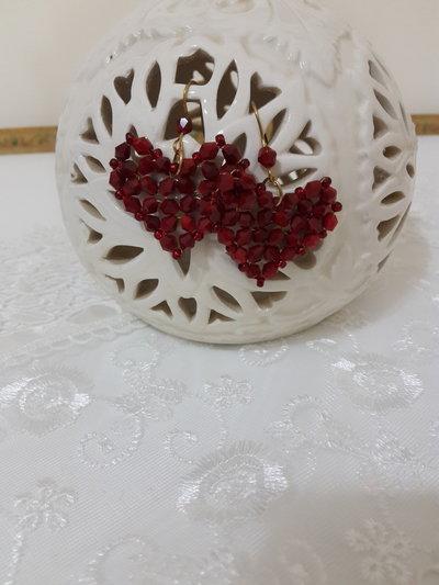 Orecchini perline cuore