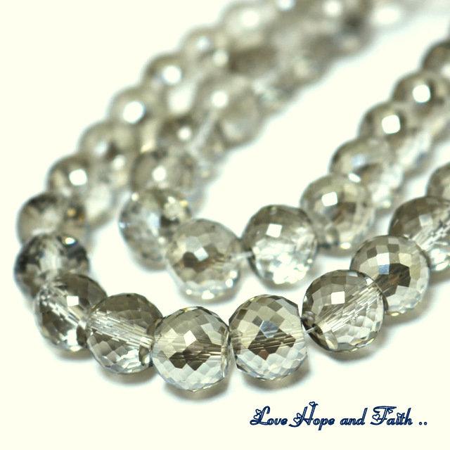 LOTTO 10 perle in vetro sfaccettato (10x8 mm) (cod 3)
