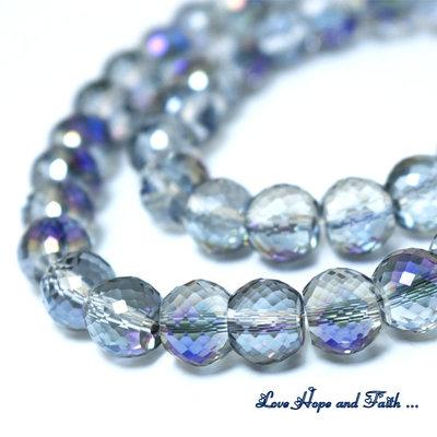LOTTO 10 perle in vetro sfaccettato (10x8 mm) (cod 2)
