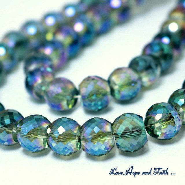 LOTTO 10 perle in vetro sfaccettato (10x8 mm) (cod 1)