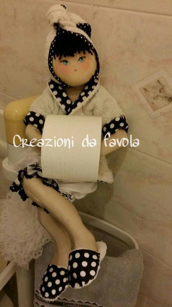 Bambola porta rotolo carta igienica per la casa e per te - Porta carta igienica ...