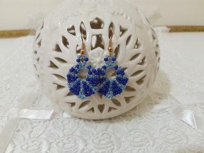 Orecchini perline blu celeste