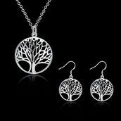 set orecchini + collana albero della vita