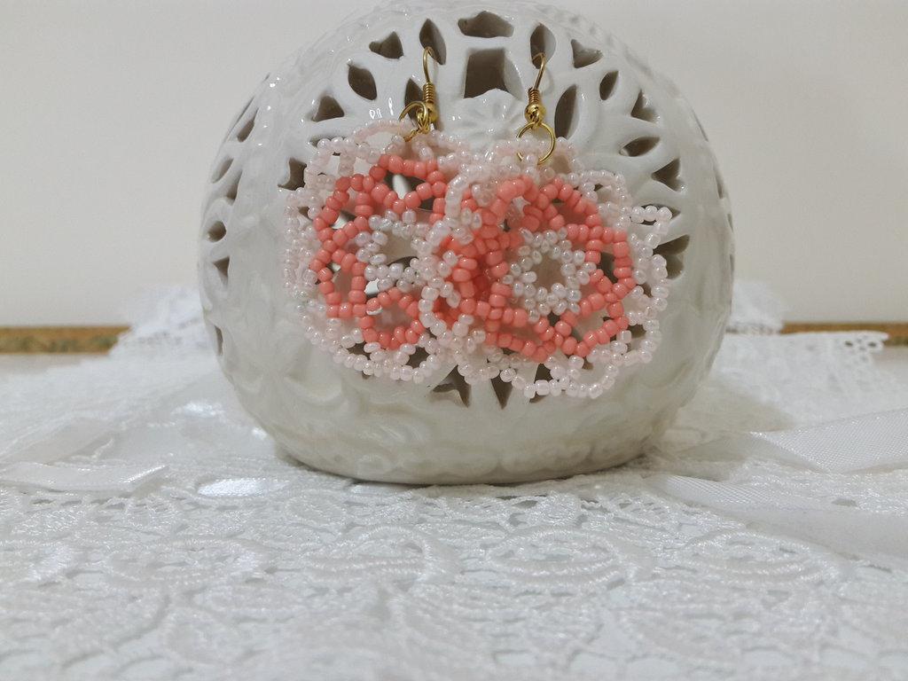 Orecchini perline mandala
