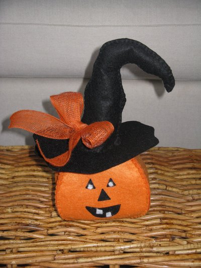 Zucca di Halloween portacaramelle