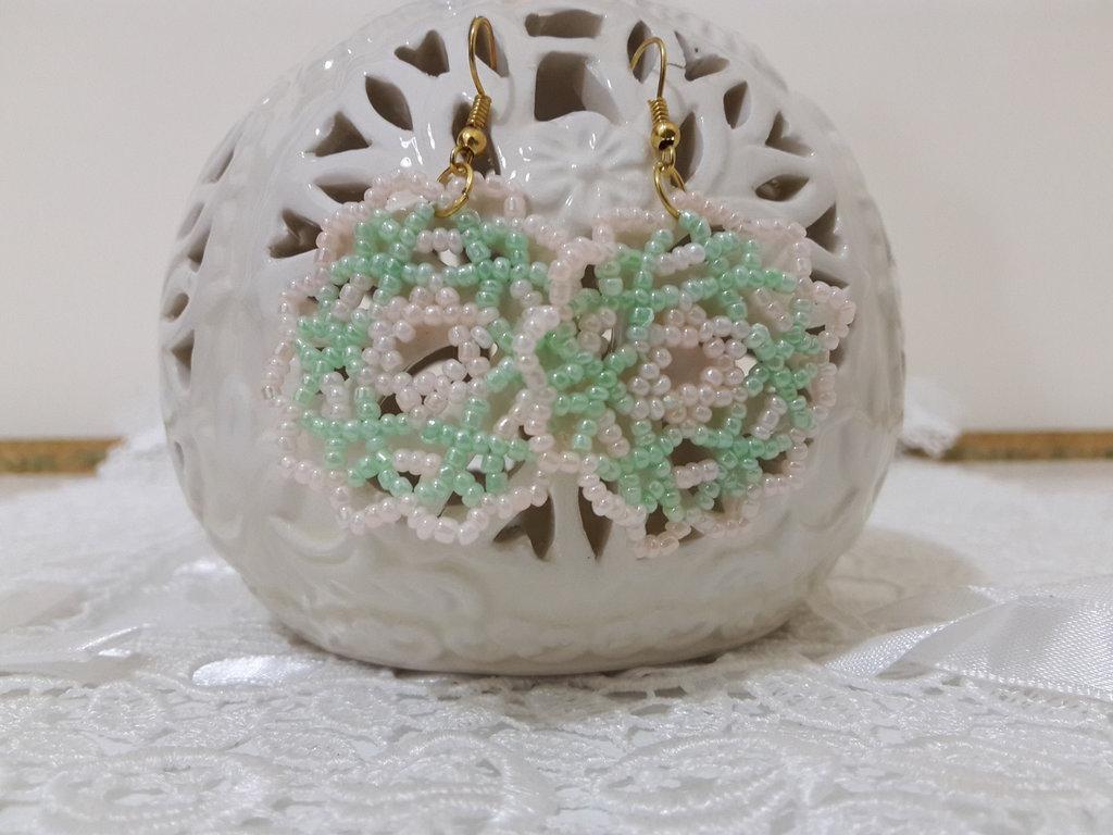 Orecchini perline a rete