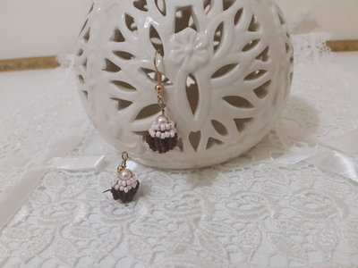 Orecchini perline cup cake