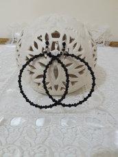 Orecchini perline cerchio