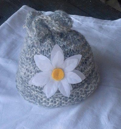 cappello  sciarpa bambina con fiore