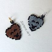 """Ciondolini """"Cuoricini"""" realizzati con perline Miyuki delica"""
