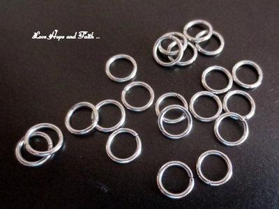 LOTTO 25 anellini acciaio inox (6mm) (cod. inox 3)