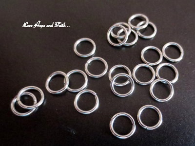 LOTTO 25 anellini acciaio inox (7x1mm) (cod. inox 4)
