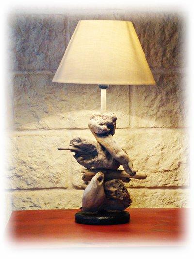 ANJA lampada con legni di mare