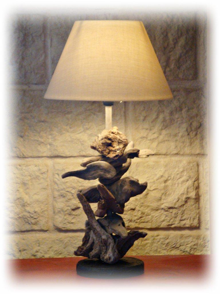 JULIA lampada con legni di mare
