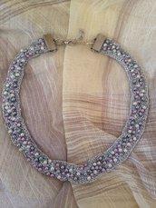 Collana artigianale con perle