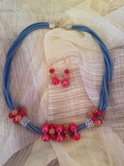 Completo collana e orecchini artigianali