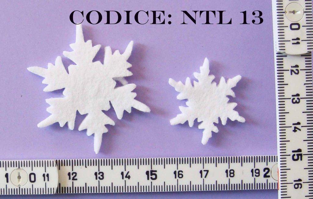 Fustellato Feltro Fiocchi di Neve Piccoli NTL13