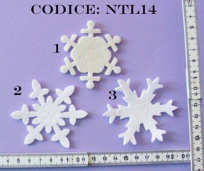 Fustellato Feltro  Fiocchi di Neve Medi NTL14