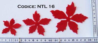 Fustellato Feltro Stella Natale Fiore  NTL16