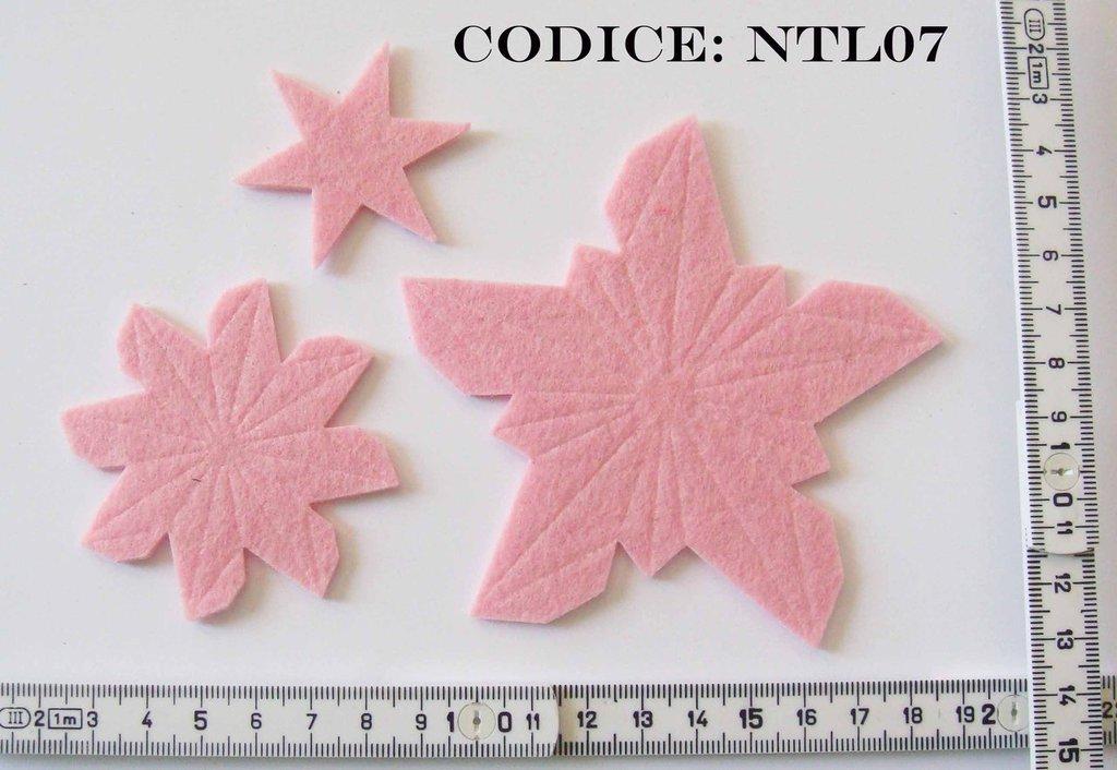 Fustellato Feltro Fiore Stella Natale NTL07