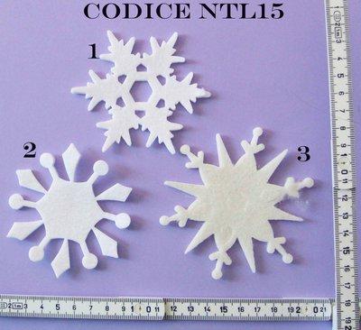 Fustellato pannolenci Fiocchi di Neve Grandi NTL15P