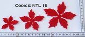 Fustellato Pannolenci Stella Natale Fiore NTL16P