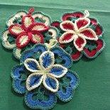 Set di 6 presine fiore