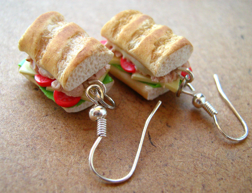 Tuna Salad Sandwich Earrings