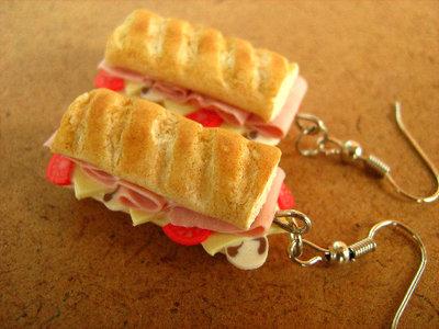 Big Sandwich Earrings