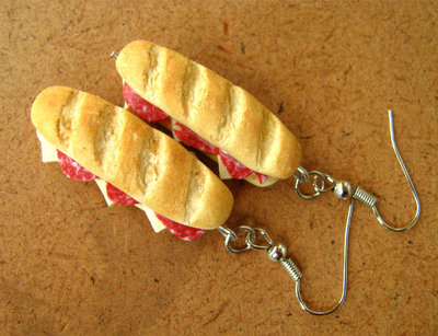 Salami Sandwich earrings