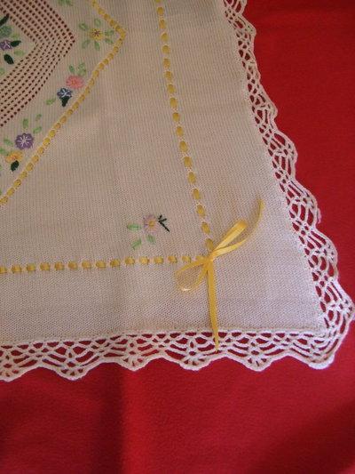 copertina lana maglia culla carrozzina