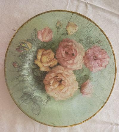 Piatto in vetro Rose