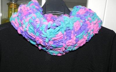 Sciarpa scaldacollo multicolore  fatta a mano regalo per lei