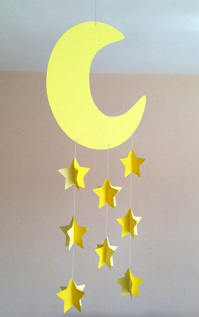 Giostra  per culla, decorazione per cameretta, con luna e stelle, 3D