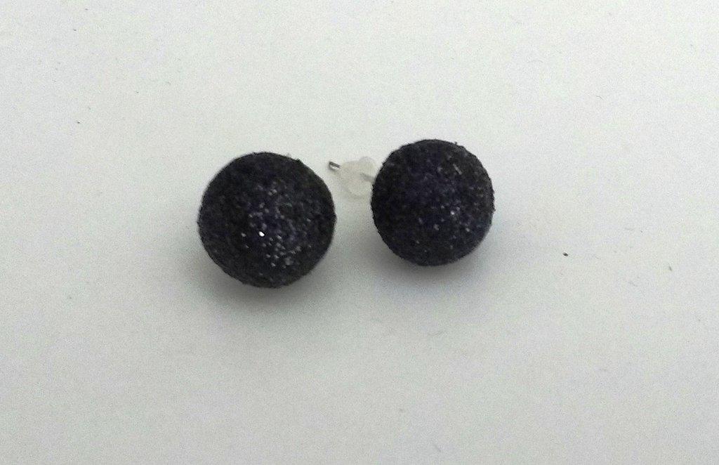 Orecchini palline - eleganti - bicolor