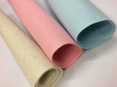 Pannolenci glitterato tre colori