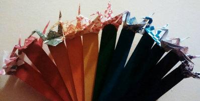 Segnaposto , segnalibro gru origami