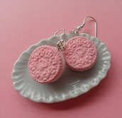 Oreo Cookie Earrings - strawberry