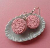 Oreo Cookie Earrings - strawberry