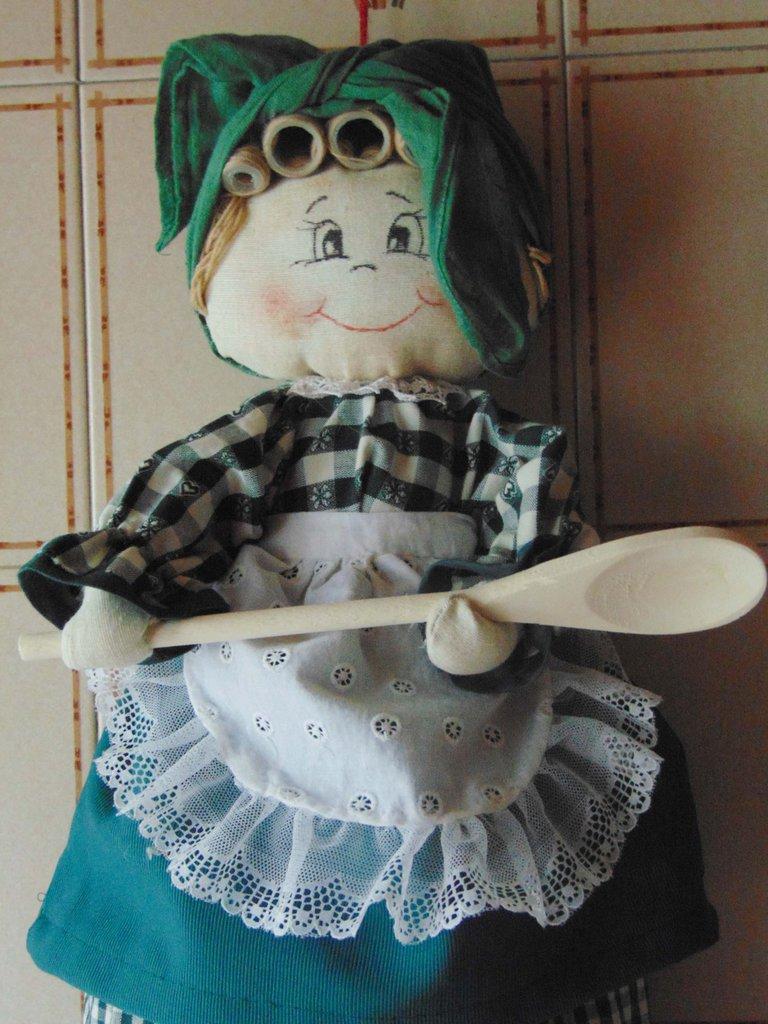 Bambola porta sacchetti per la casa e per te cucina - Porta sacchetti ...