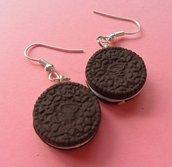 Oreo Cookie Earrings - chocolate