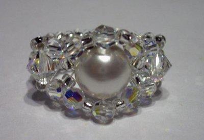 Elegante anello con perla