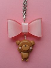 Sweet Bear Necklace - pink
