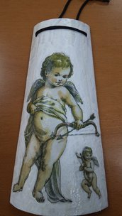 Tegola Cupido in decoupage